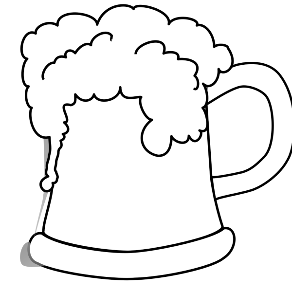Beer Mug Outlined 2 PNG Clip art