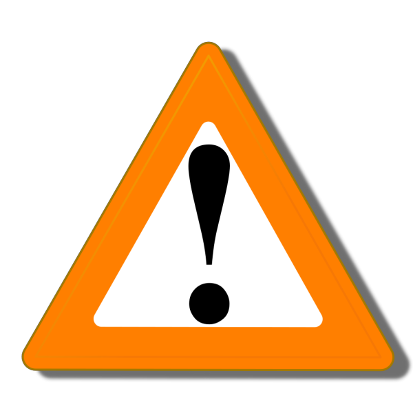 Orange Warning PNG Clip art