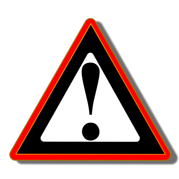 Red Black Warning PNG Clip art