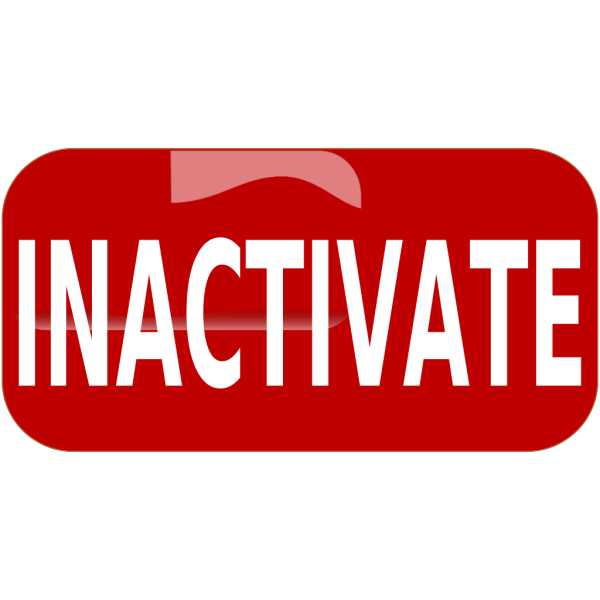 Red Inactivate Rectangle Button PNG images
