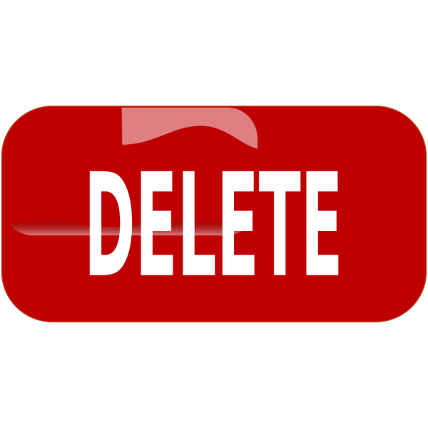 Red Delete Rectangle Button PNG images