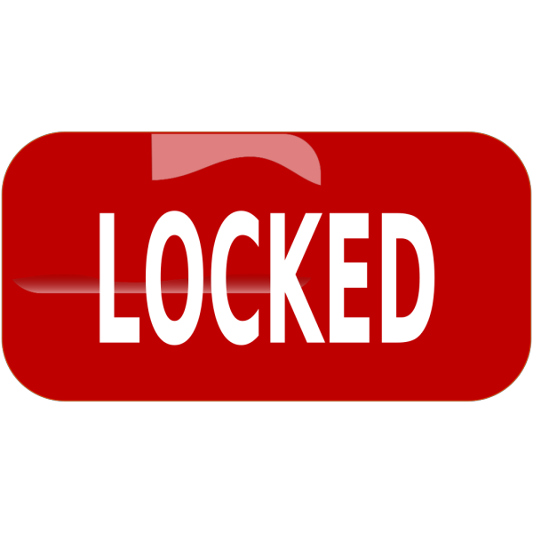 Red Locked Rectangle Button PNG Clip art