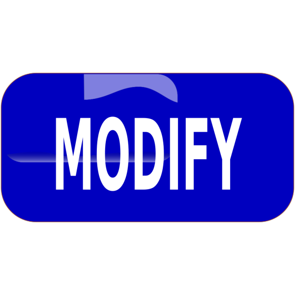 Blue Modify Rectangle Button PNG Clip art