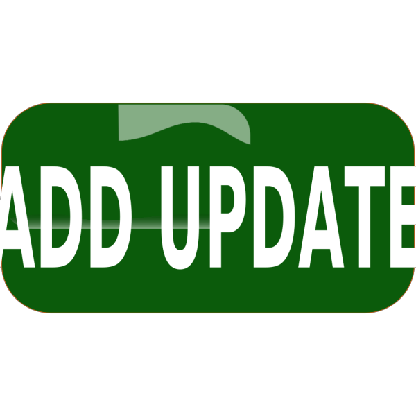 Dark Green Add Update Rectangle Button PNG Clip art