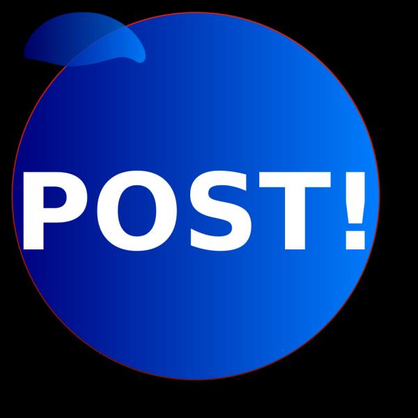 Postbuttonbluev1 PNG Clip art