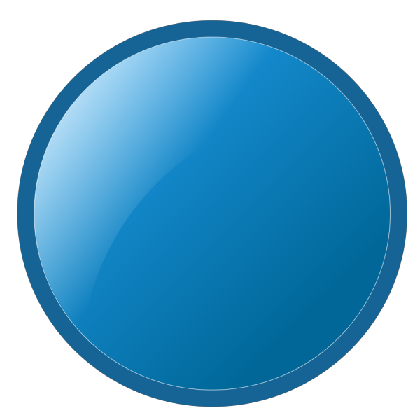 Glossy Blue Circle PNG icon