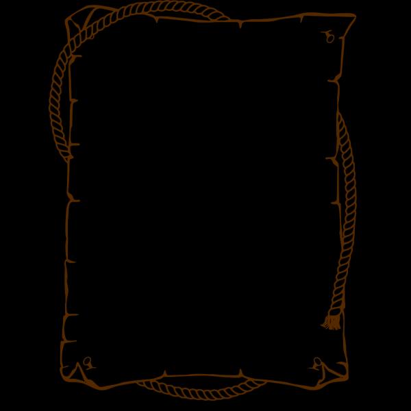Brownwestern Border PNG Clip art