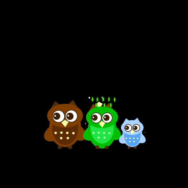 Family Owl PNG Clip art