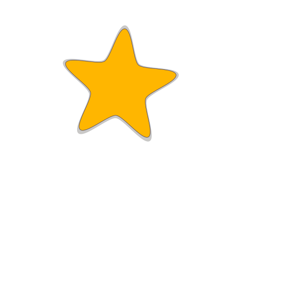 Blue Star With 1 Gold Star And Wings PNG Clip art