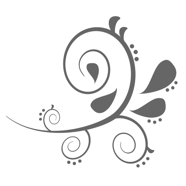 Paisley Curves Brown PNG Clip art