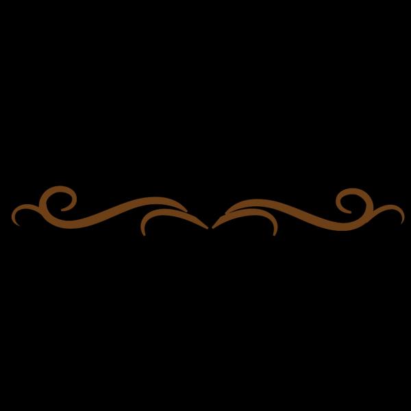 Brown Fl0urish PNG Clip art