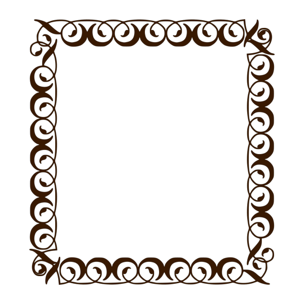 Chocolate Brown Border PNG Clip art