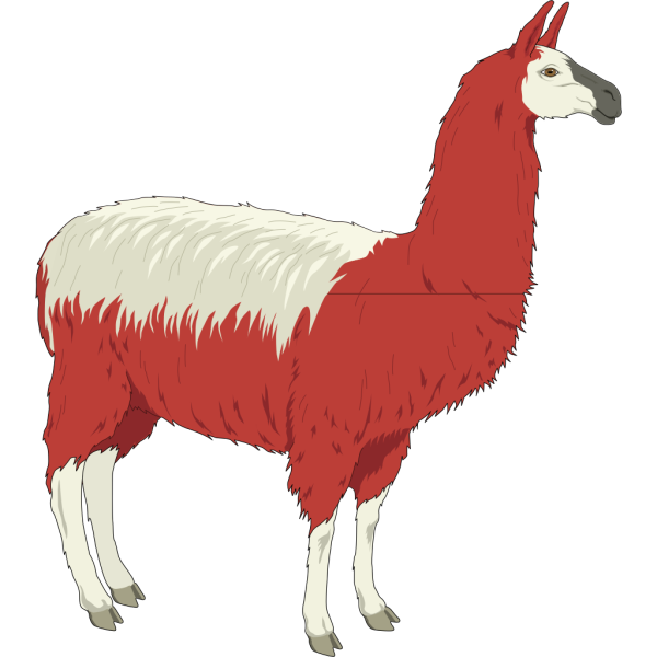 Red And White Llama PNG Clip art