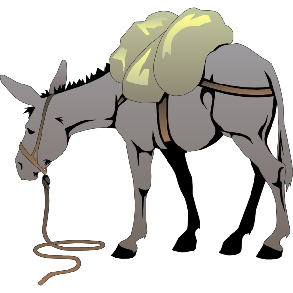 Donkey With A Load PNG images