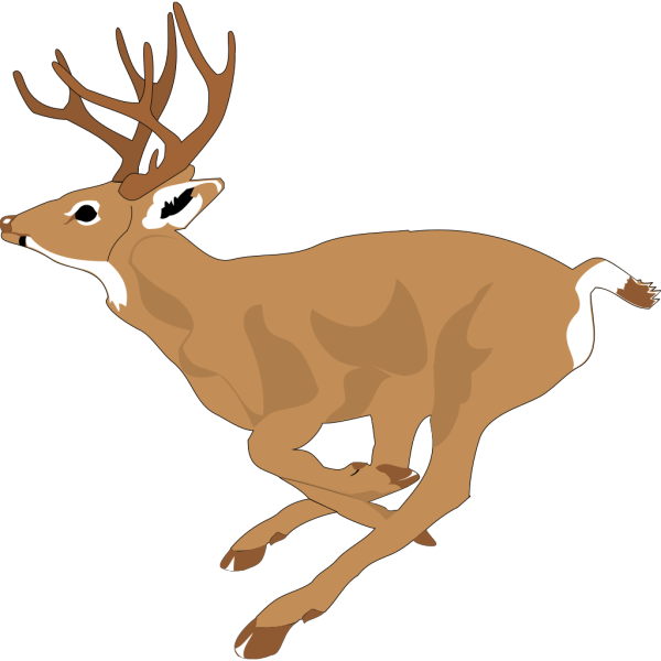 Leaping Deer Side View PNG Clip art
