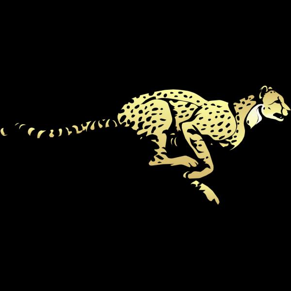 Fast Running Cheetah PNG Clip art