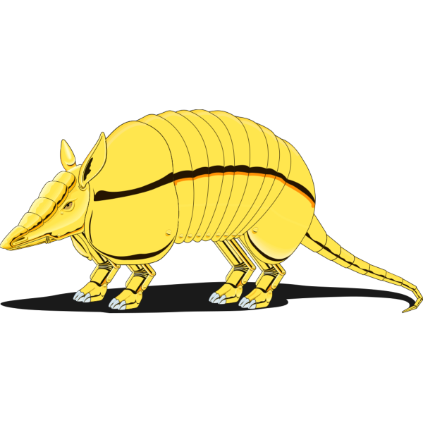 Golden Armadillo PNG images
