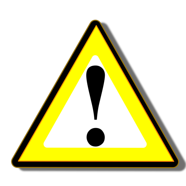 Black Yellow Warning PNG Clip art