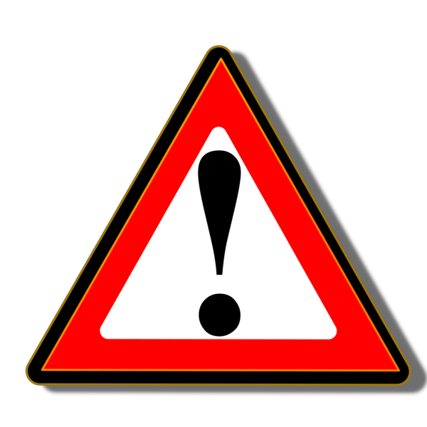 Black Red Warning 1 PNG Clip art