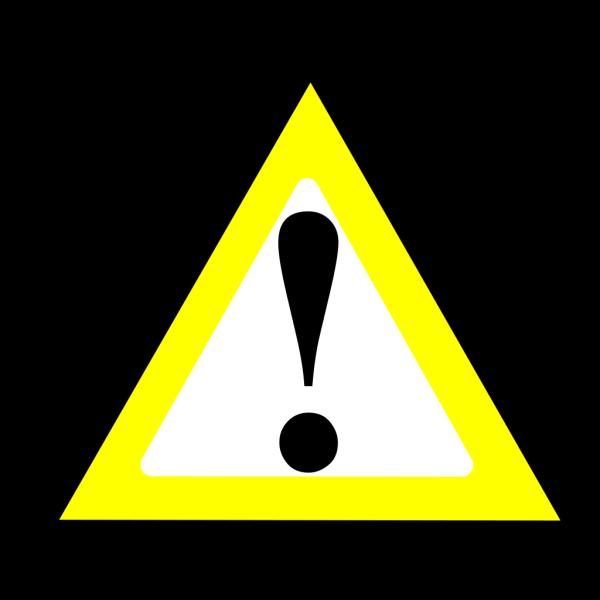 Black Yellow Warning 1 PNG Clip art
