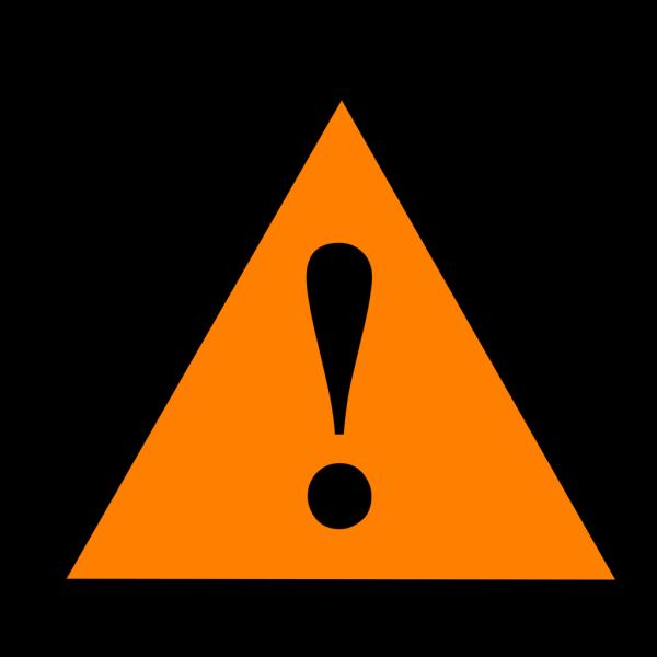 Black Orange Black Warning 1 PNG Clip art