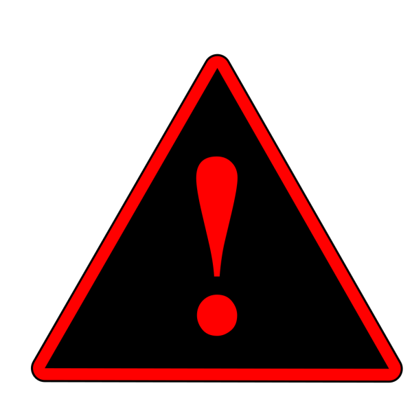 Red Black Red Warning 1 PNG Clip art