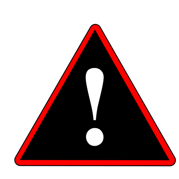 Red Black White Warning 1 PNG Clip art
