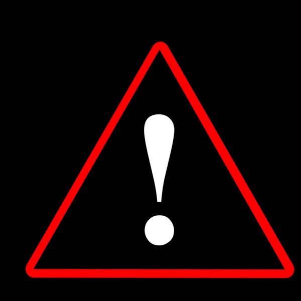 Red Black White Warning 2 PNG Clip art