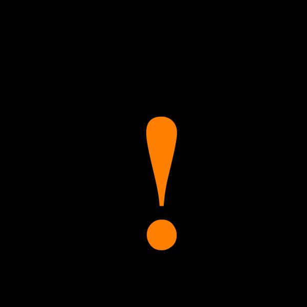 Black Orange Black Warning  PNG Clip art
