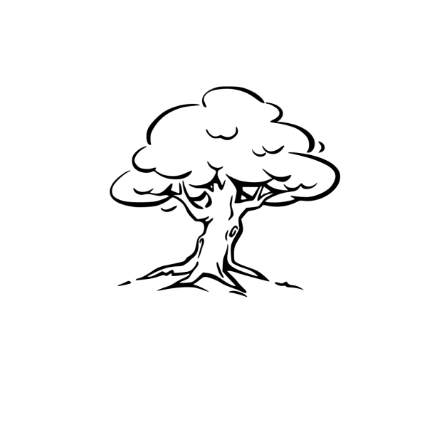Black Tree Vector PNG Clip art
