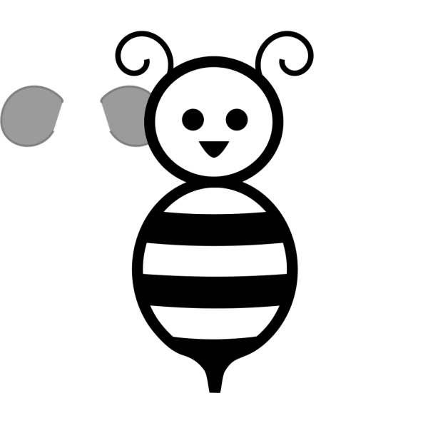 Black And White Bee PNG Clip art