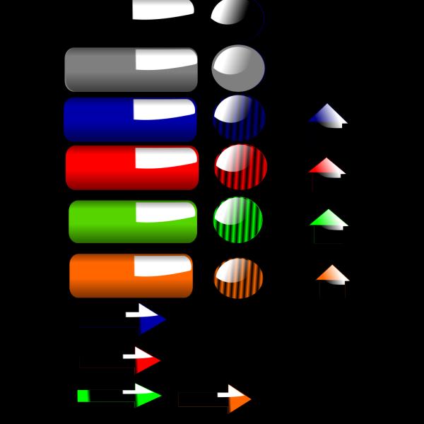 Color Button Collection2 PNG Clip art