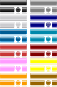 Glossy Set Button PNG Clip art