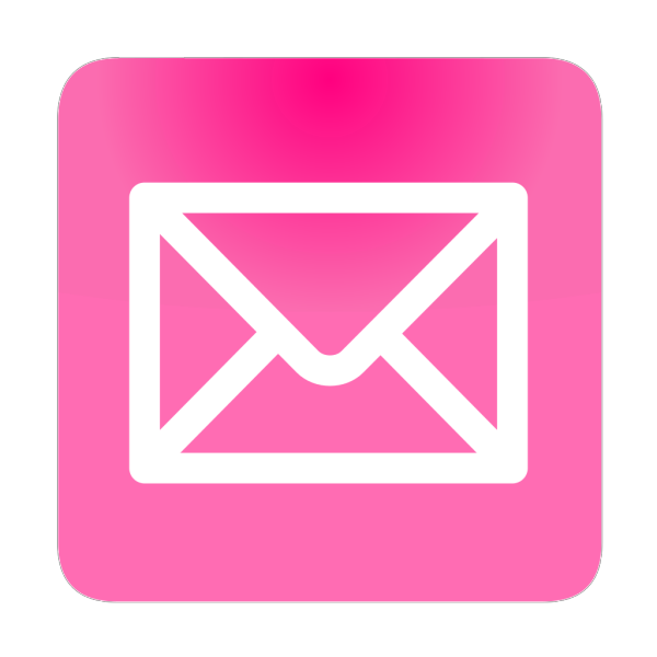 Pink Email Button PNG Clip art