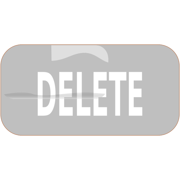 Gray Rectangle Delete Button PNG images
