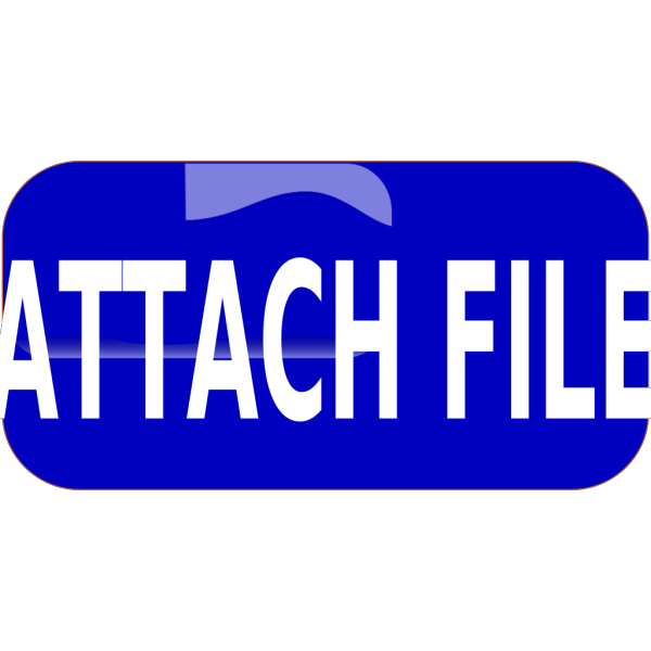 Blue Attach File Rectangle Button PNG Clip art