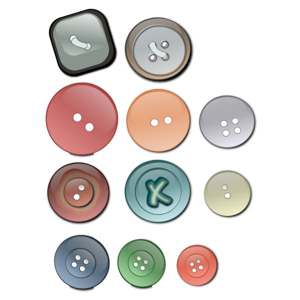 Clothing Buttons PNG Clip art