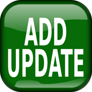 Green Add Update Square Button PNG Clip art