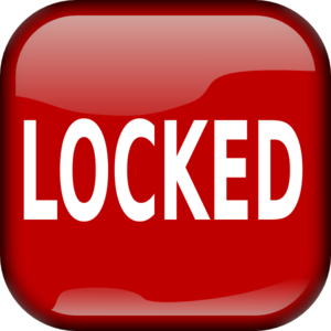 Red Locked Square Button PNG Clip art