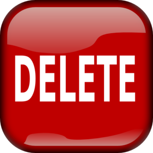 Red Delete Square Button PNG images