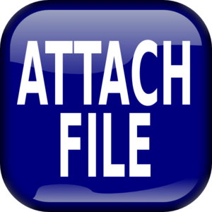 Blue Attach File Square Button PNG Clip art