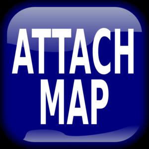 Blue Attach Map Square Button PNG Clip art