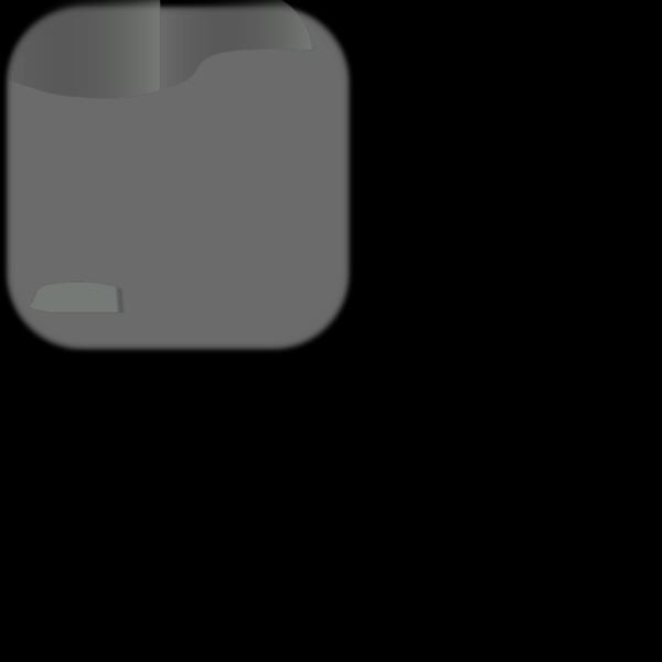 Gray Add Update Square Button PNG Clip art