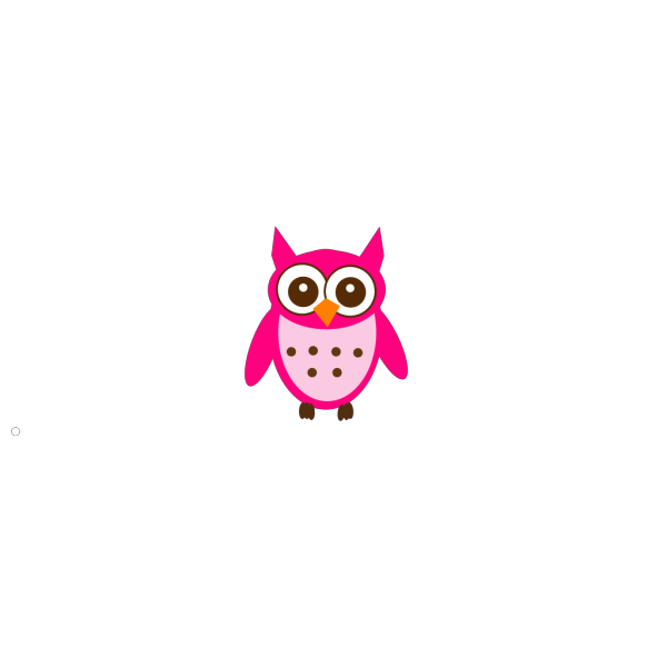 Pink And Brown Owl PNG Clip art