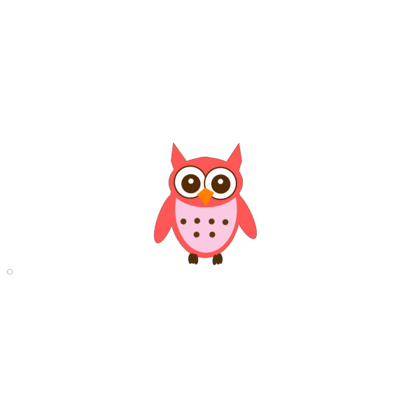 Rose Owl PNG Clip art