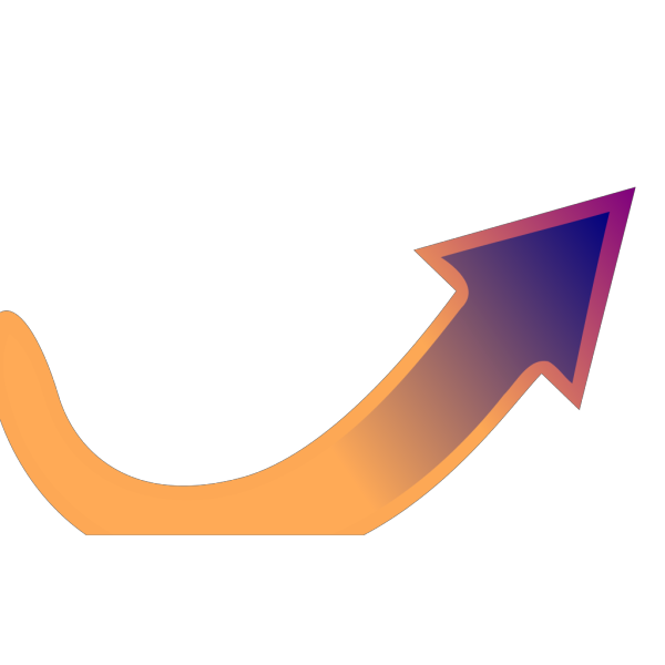 Orange-blue Arrow PNG Clip art