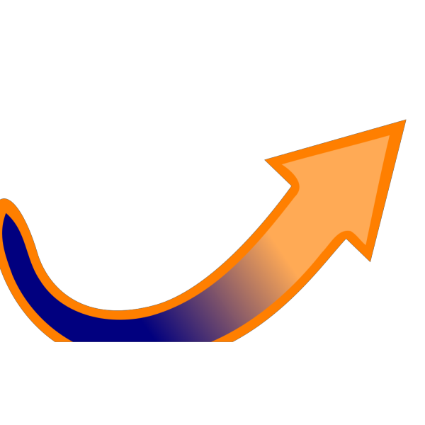 Blue-orange Arrow PNG Clip art