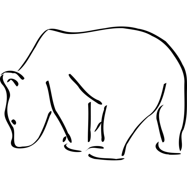 Bear Outline Blue PNG Clip art