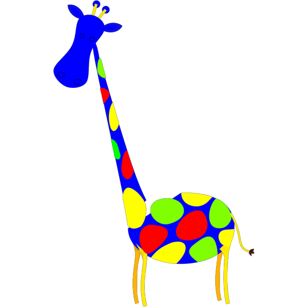 Blue Spotted Giraffe PNG Clip art