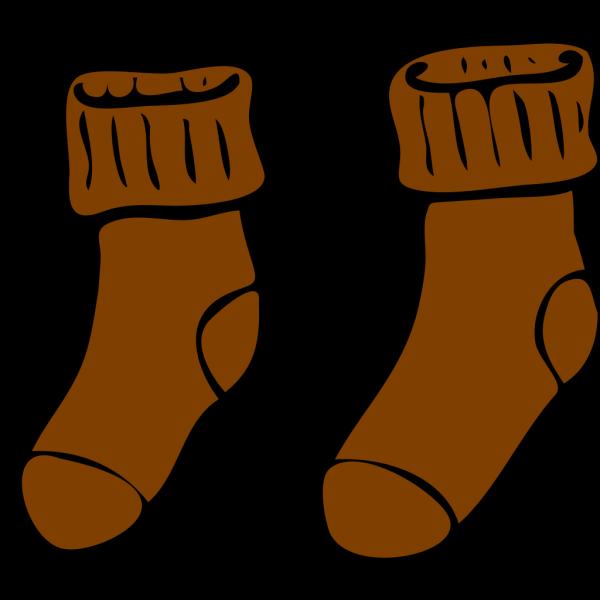 Brown Sock PNG Clip art